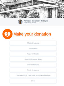 You can make online donations