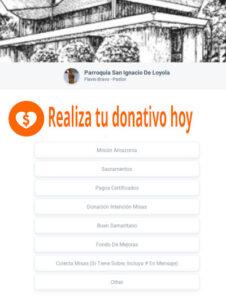 Enlace para Donativos a la Parroquia